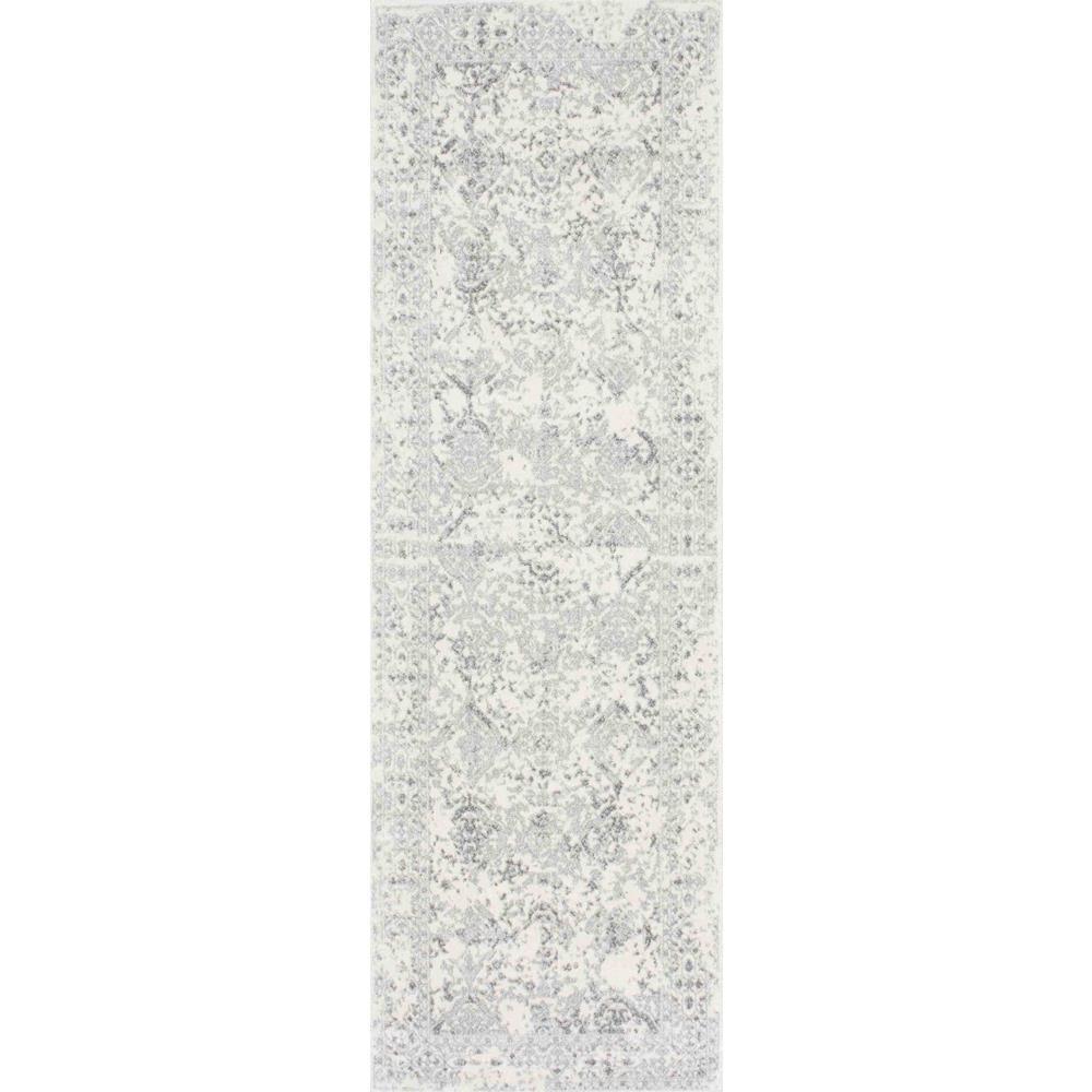 Vintage Odell Ivory 3 ft. x 8 ft. Runner Rug