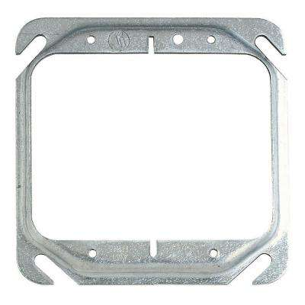 4 in. 2.3 cu. in. Pre-Galvanized Steel Square Mud Ring - 1/4 in. Raised (Case of 10)