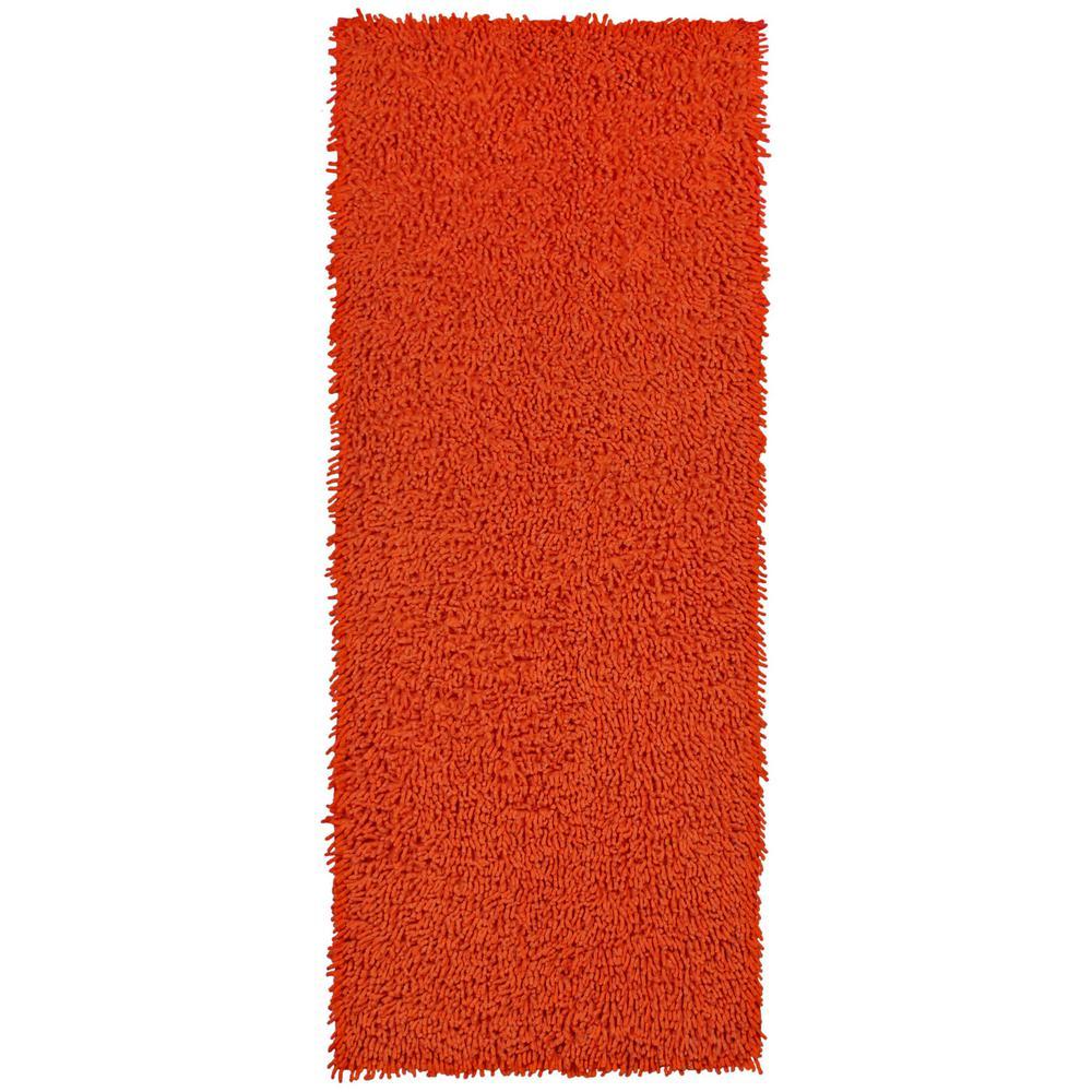 Orange Shag Chenille Twist 2 ft. x 5 ft. Runner Rug