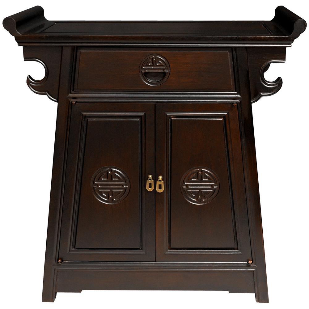 Oriental Furniture Altar Brown End Table ST-PJ110