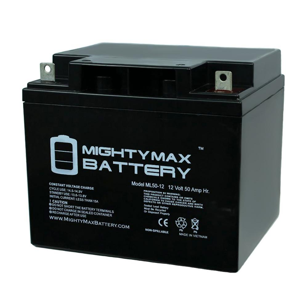 MIGHTY MAX BATTERY 12-Volt 50 Ah Rechargeable Sealed Lead Acid (SLA) Battery