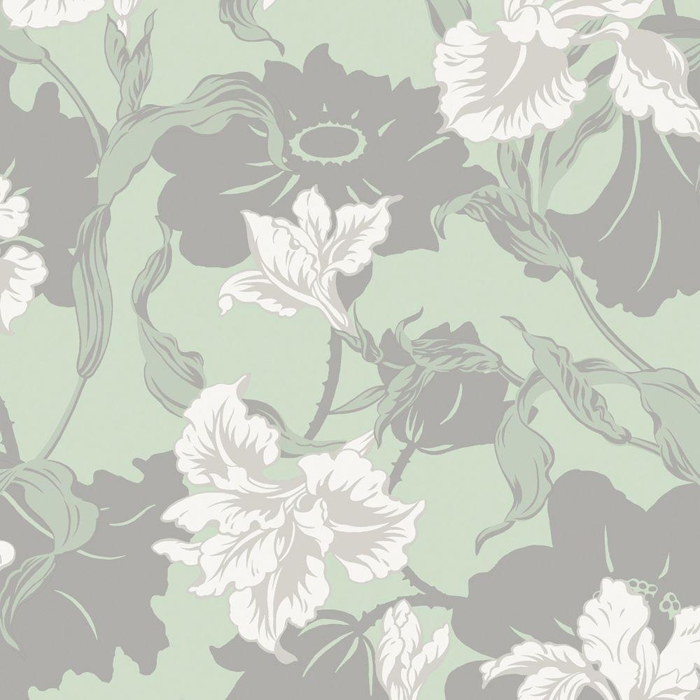 The Wallpaper Company 56 sq. ft. Seabreeze Large Floral Wallpaper