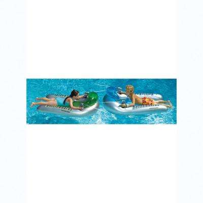 28 in. x 53 in. BattleBoard Squirter Set Includes 2-Pool Floats with Attached Dual Squirt Guns