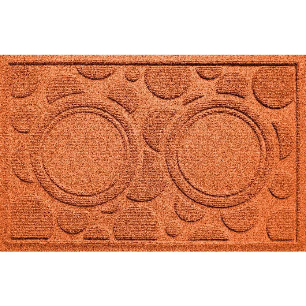 Orange 18 in. x 27 in. Dog Bowl Dots Polypropylene Pet Mat