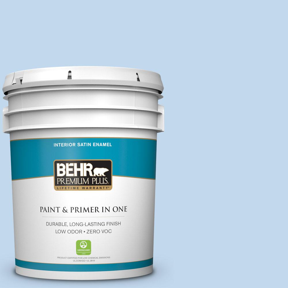 BEHR Premium Plus 5-gal. #M520-2 After Rain Satin Enamel Interior Paint
