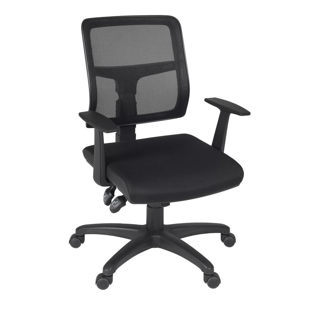 Aubrey Black Swivel Chair