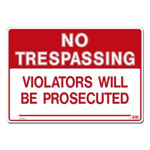 image about Printable No Trespassing Sign known as Lynch Indication 20 within. x 14 in just. No Tresping Indicator Posted upon Far more Resilient, Thicker, For a longer period Long-lasting Styrene Plastic-R- 39 - The House Depot