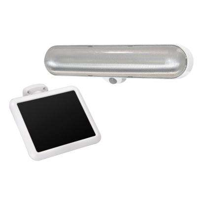 Solar Light Gray Motion Activated Integrated LED Utility Light