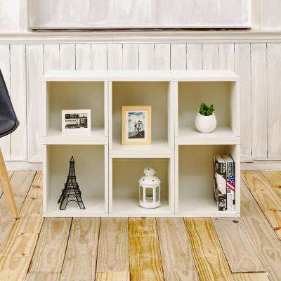 Arlington Eco zBoard Tool Free Assembly White Stackable Modular Open Bookcase