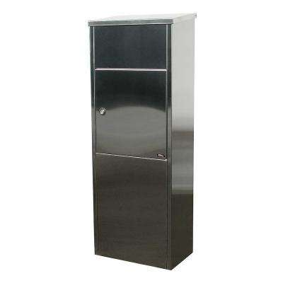 Allux 600 Stainless Steel Ground Mount Locking Mail/Parcel Box