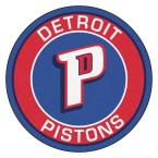 NBA Detroit Pistons Red 2 ft. x 2 ft. Round Area Rug