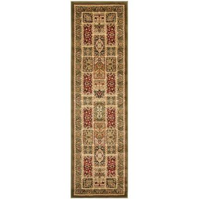 Lyndhurst Multi/Green 2 ft. x 16 ft. Runner Rug