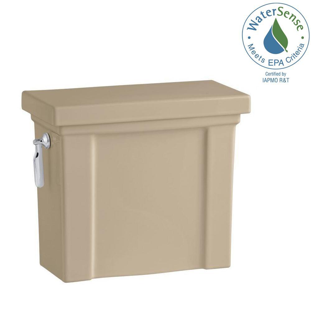 Tresham 1.28 GPF Single Flush Toilet Tank Only with AquaPiston Flushing Technology in Mexican Sand