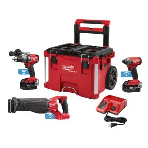 Milwaukee M18 FUEL ONE-KEY 18-Volt Lithium-Ion Brushless Cordless Combo Kit (3-Piece) With PACKOUT Rolling... by Milwaukee