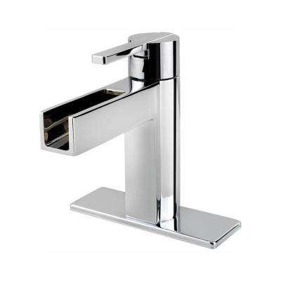 Vega Single Hole Single-Handle Bathroom Faucet in Polished Chrome