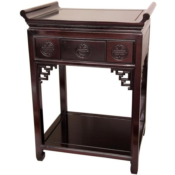 Tall Altar Red End Table