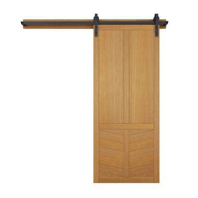 36 in. x 84 in. The Robinhood Sands Wood Barn Door with Sliding Door Hardware Kit