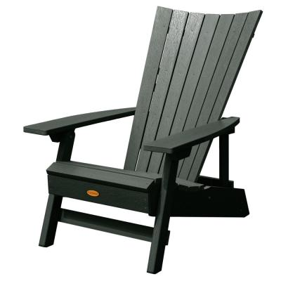 Manhattan Beach Charleston Green Folding and Reclining Recycled Plastic Adirondack Chair