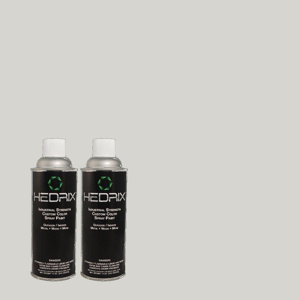 Hedrix 11 oz. Match of C40-77 Mica Flat Custom Spray Paint (2-Pack)