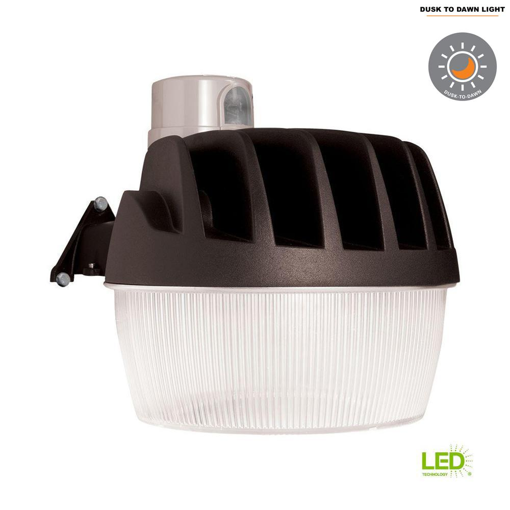 Bronze Outdoor Integrated LED Area Dusk to Dawn Security Light with