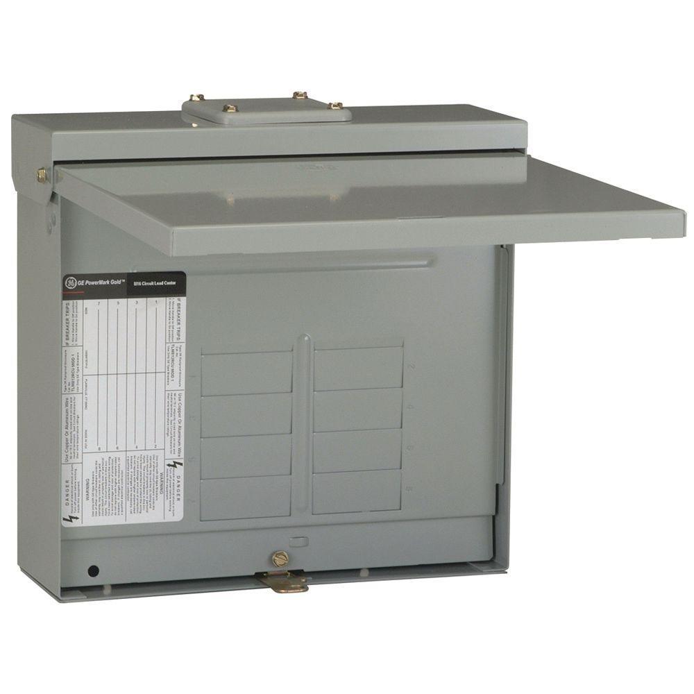 powermark gold 125 amp 8-space 16-circuit outdoor main lug circuit breaker  panel
