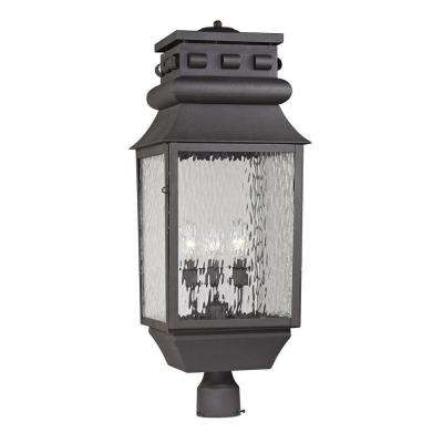 Georgetown Collection 3-Light Charcoal Outdoor Post Light
