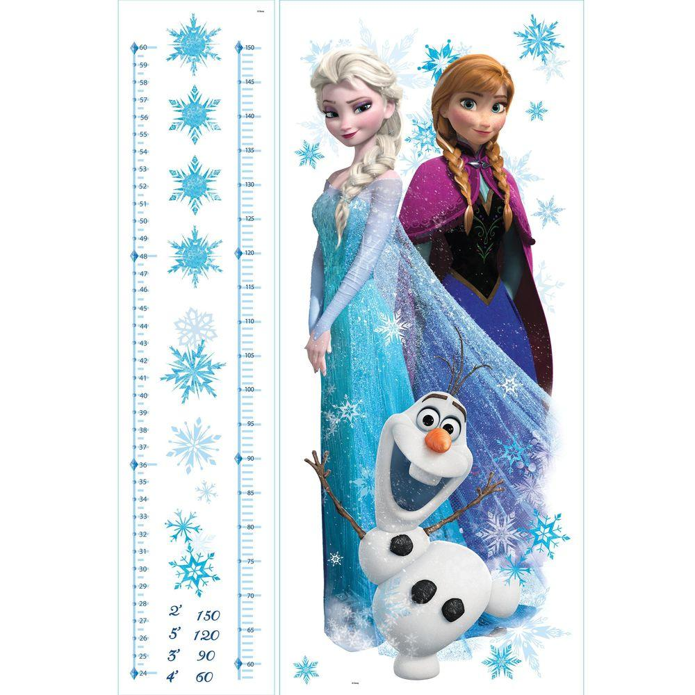 Cartoon Olaf Anna Elsa Princess Frozen Wall Stickers Home Decoration Growth Chart For Kids Height Measure Anime Wall Art Decals Wall Stickers Home & Garden