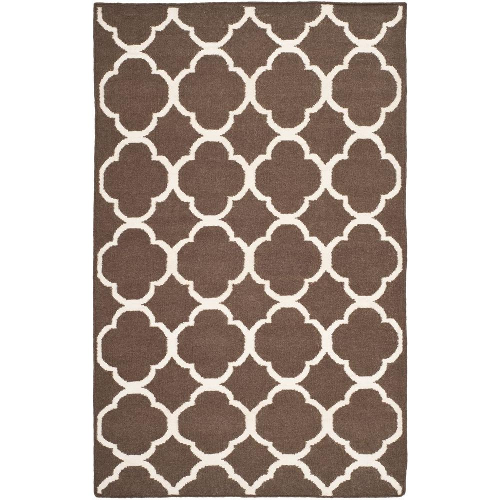 Dhurries Brown/Ivory 3 ft. x 5 ft. Area Rug