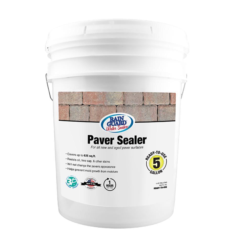 RAIN GUARD 5 gal  Paver Sealer Penetrating Premium Waterproofer