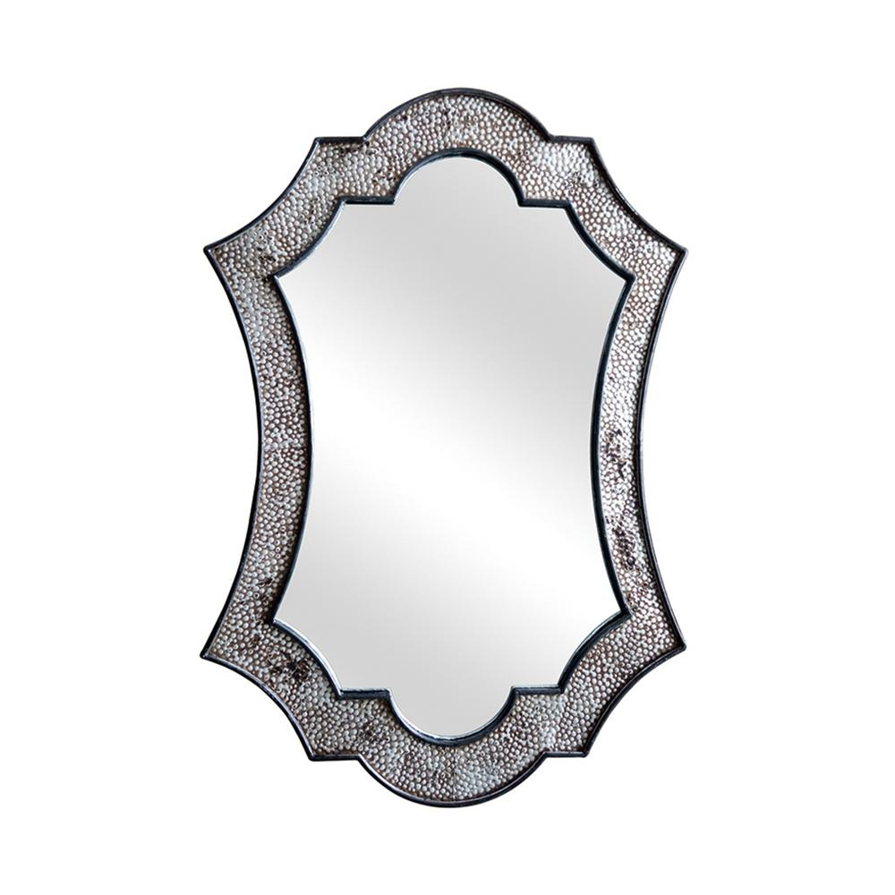 Reeve Bevelled Edge Antique Silver Decorative Mirror