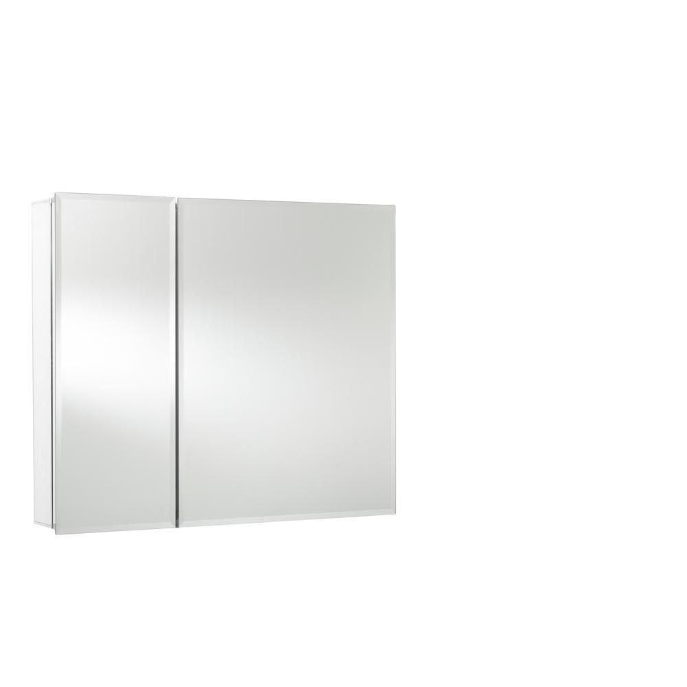30 in. x 26 in. Recessed or Surface Mount Double Door Bi-View Medicine Cabinet
