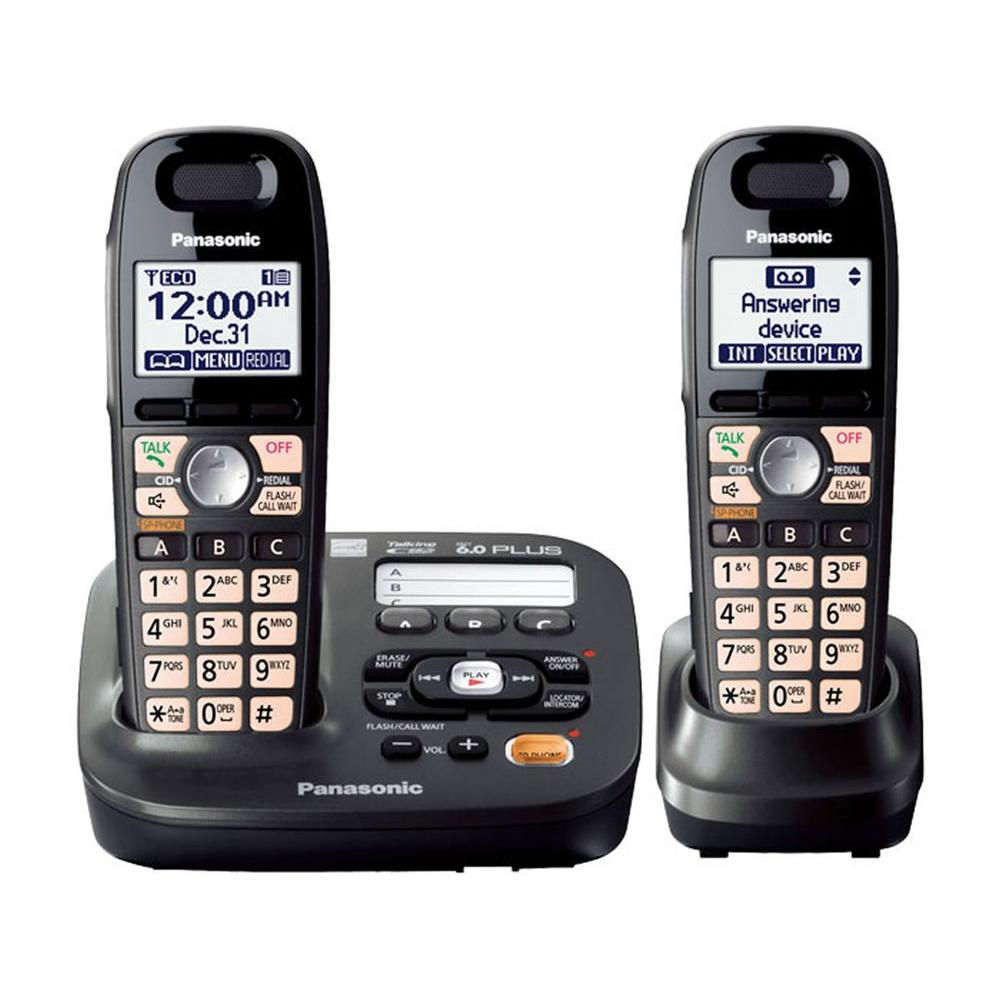 fce56204515 Panasonic DECT 6.0 Amplified Sound Cordless Phone-KX-TG6592T - The ...