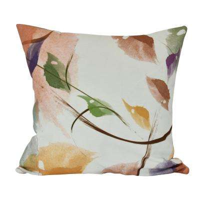 16 in. Windy, Floral Print Decorative Pillow