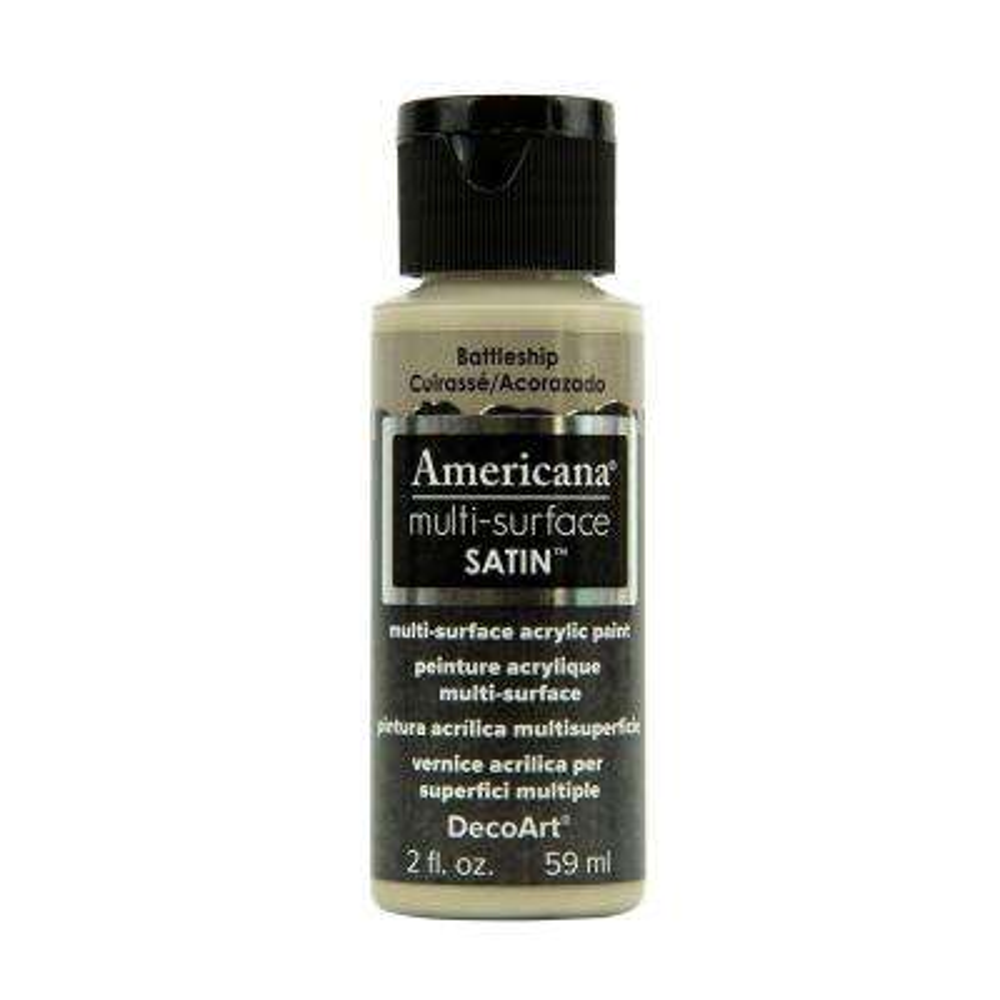 Americana 2 oz. Battleship Satin Multi-Surface Acrylic Paint