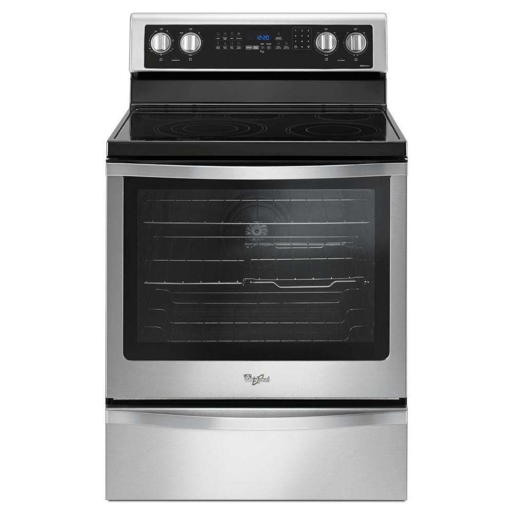 Whirlpool 6 4 Cu Ft Freestanding Electric Range With