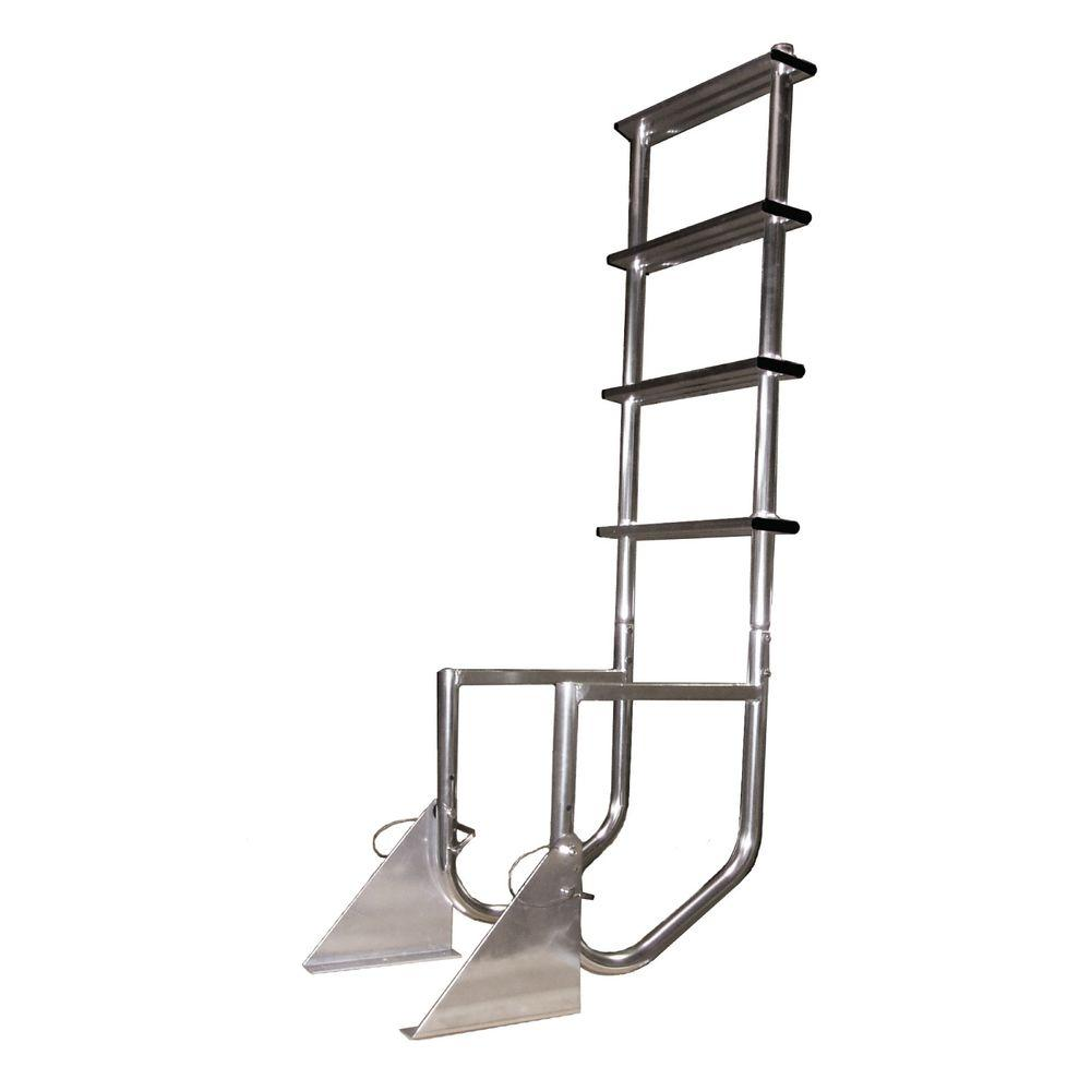Multinautic Aluminum 4-Step Flip-Up Dock Ladder
