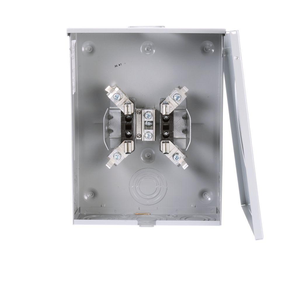 200 Amp 4-Jaw Horn Bypass Overhead/Underground Fed Meter Socket