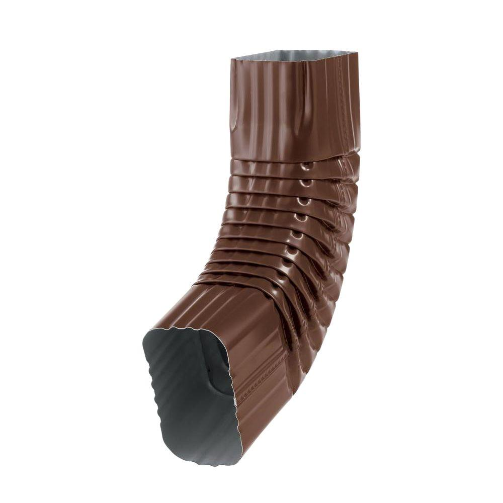 PRO 3 in. x 4 in. Brown Aluminum B Elbow