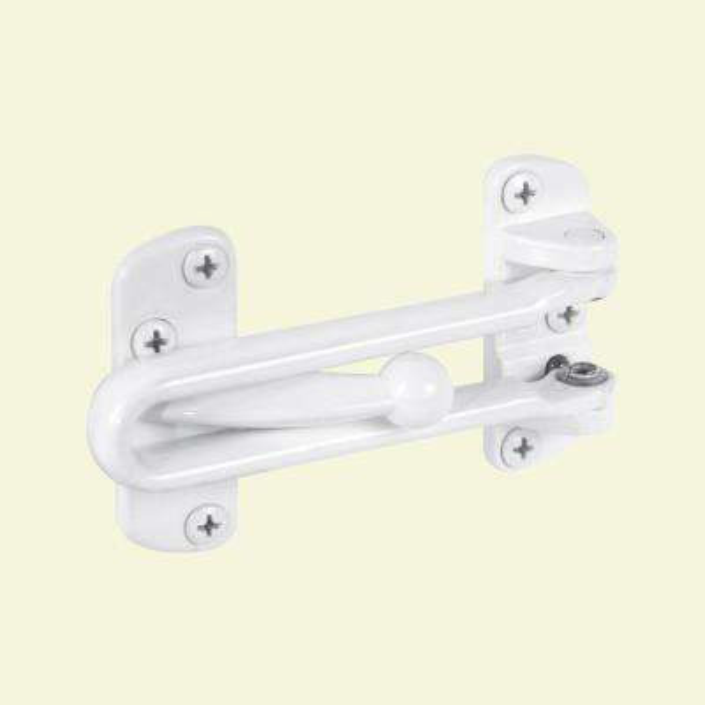 White Swing-Bar Door Guard