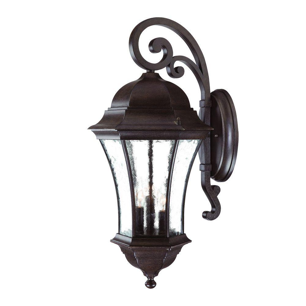 Acclaim Lighting Waverly Collection 3 Light Black C Outdoor Wall Lantern Sconce