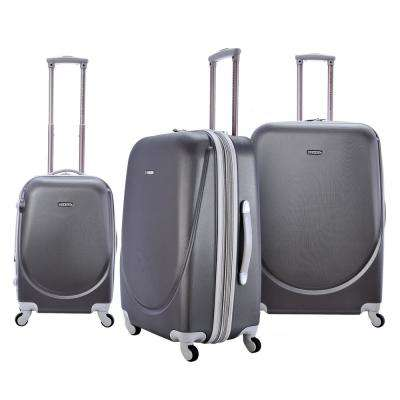 3-Piece Expandable Abs Rolling Vertical Luggage Set