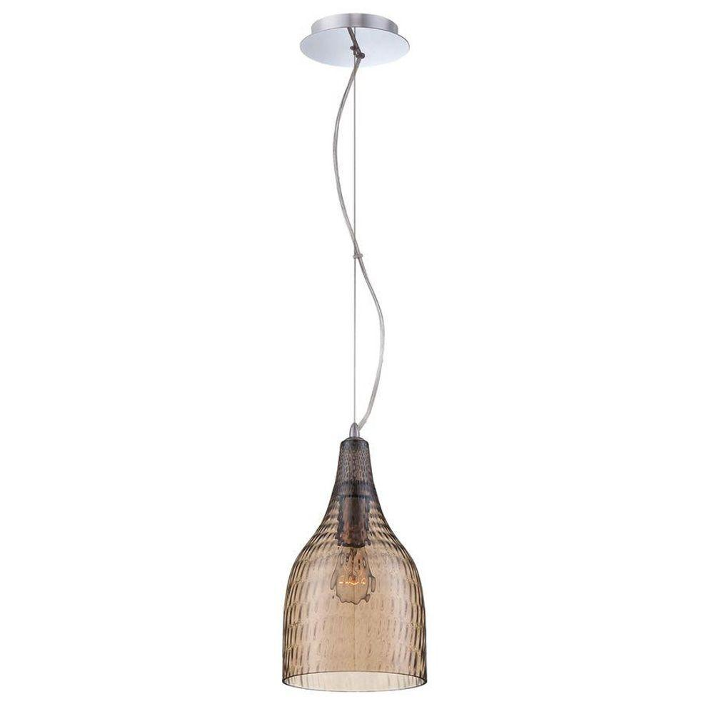 Eurofase Altima Collection 1-Light Chrome and Amber Pendant