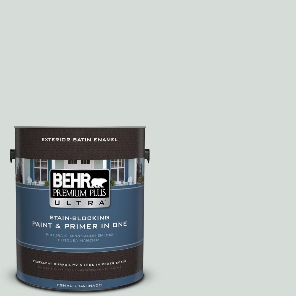 BEHR Premium Plus Ultra 1-gal. #PPL-66 Iced Slate Satin Enamel Exterior Paint