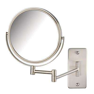 11 in. x 14 in. Wall Makeup Mirror in Nickel