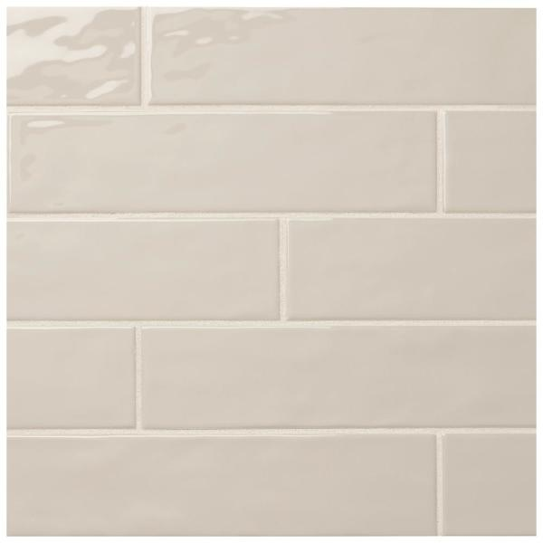 LuxeCraft Taupe 3 in. x 12 in. Glazed Ceramic Subway Wall Tile (12 sq. ft. / case)