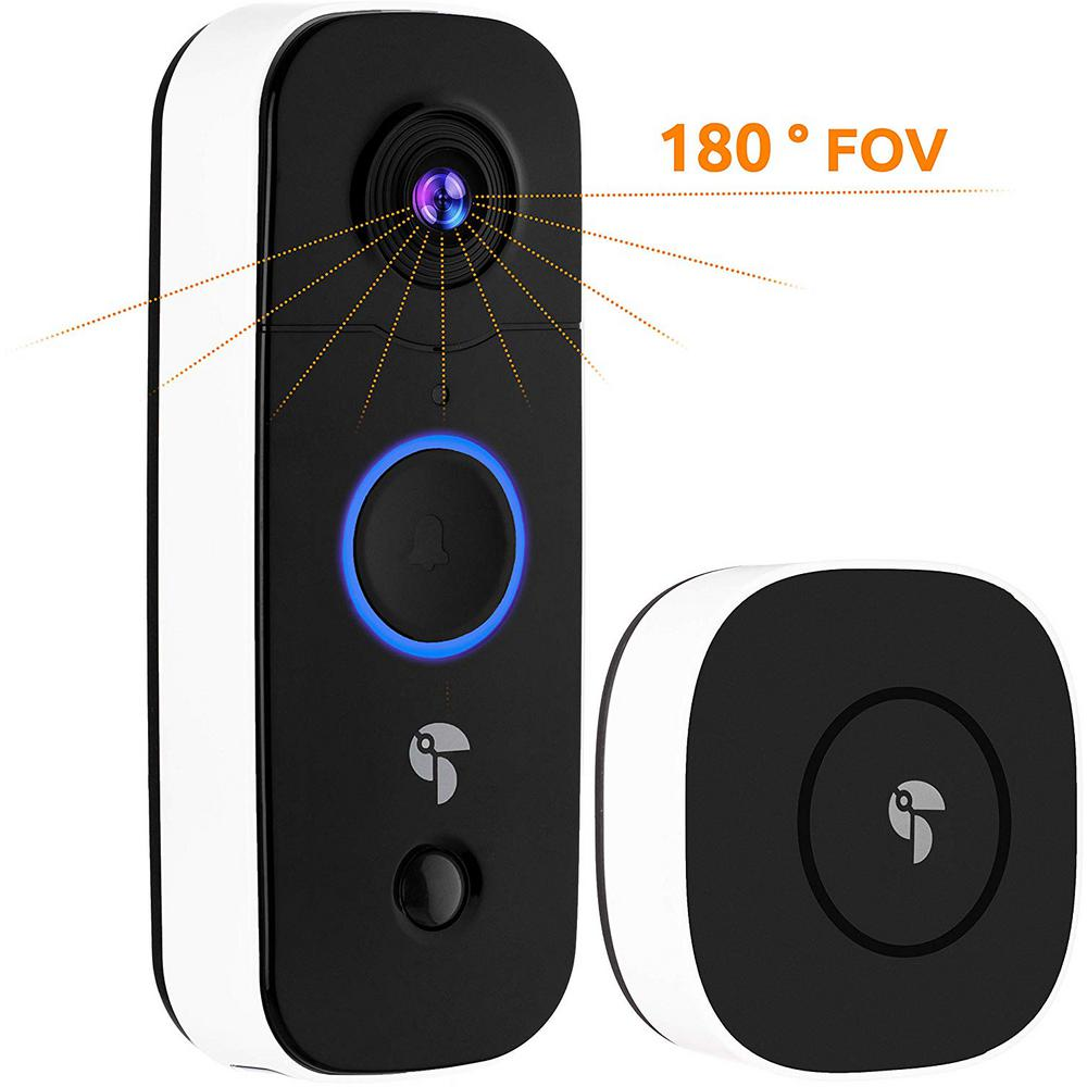 Toucan 1-Channel 1080p HD 180° with Wi-Fi and 2-Way Communication Wireless Video Doorbell Camera