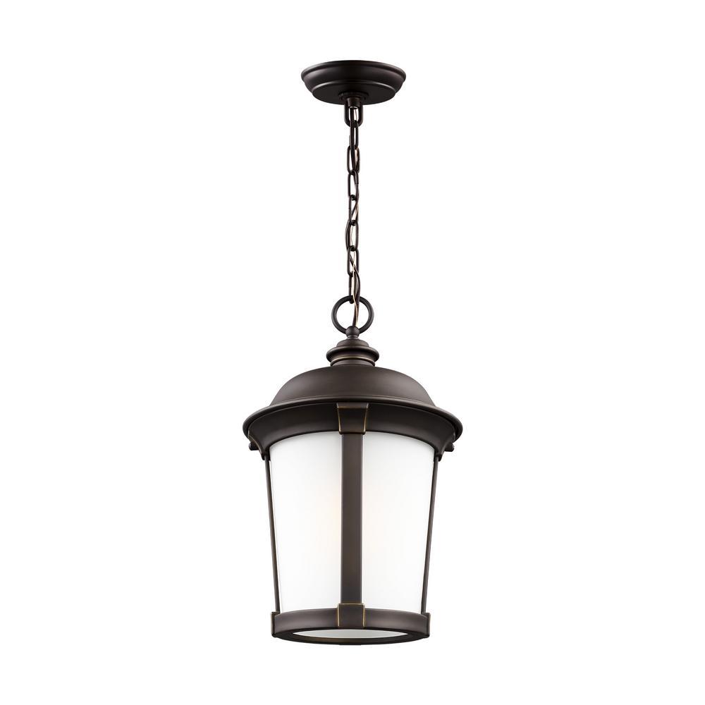 Calder Antique Bronze 1-Light Hanging Pendant