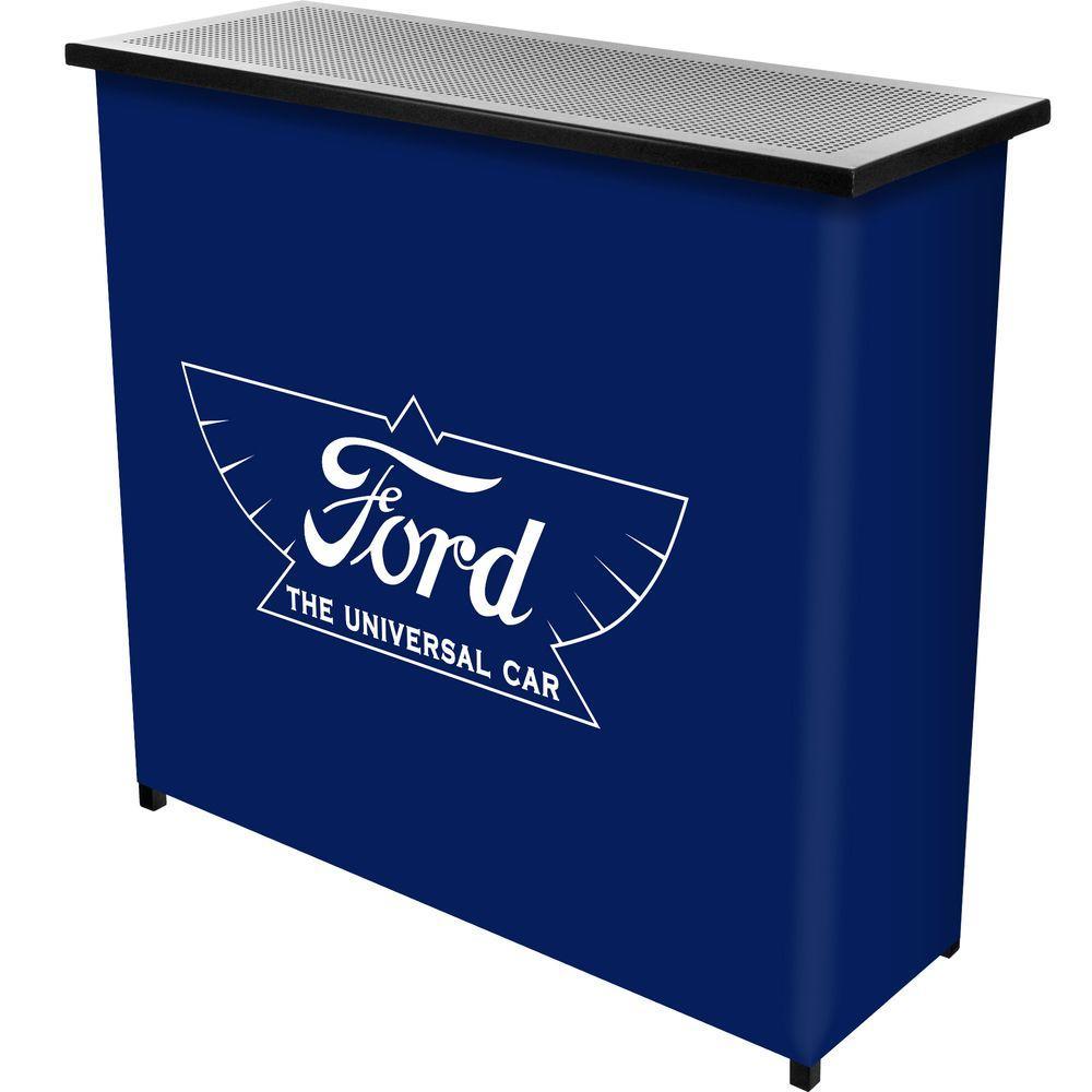 The Universal Car 2-Shelf Blue Bar with Case