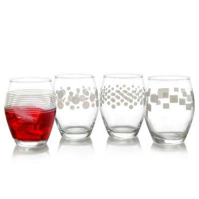 Trend 13 oz. Stemless Wine Glass (4-Pack)