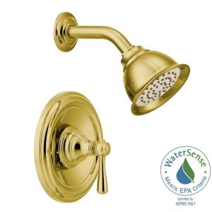 Kingsley Posi Temp 1 Handle Eco Performance Shower Trim Kit In Polished  Brass